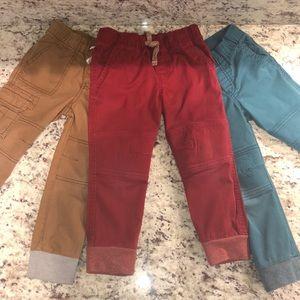 Cat & Jack Toddler Boys Jogger Pants Bundle 3T